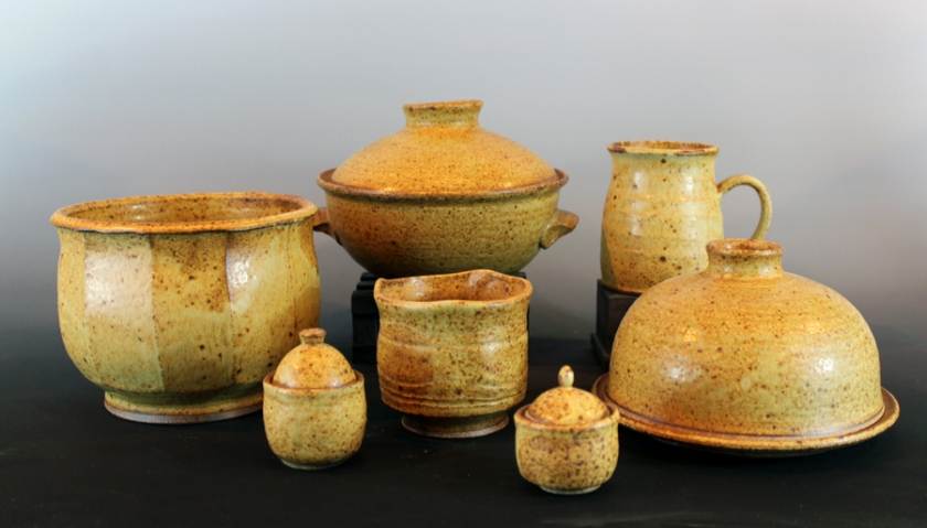 Benjamin Kirkava, Stoneware with ash glaze, reduction fired, 2013