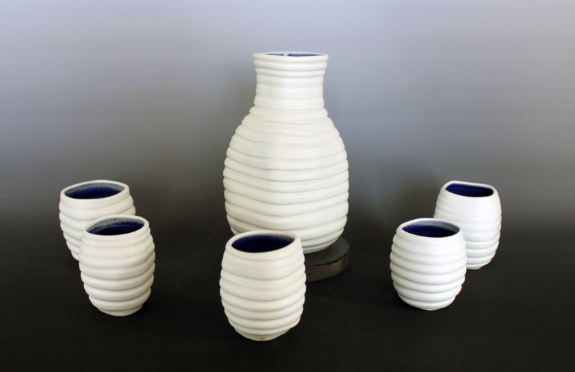 Brynne Macosko Paguyo, Porcelain saki set, 2013
