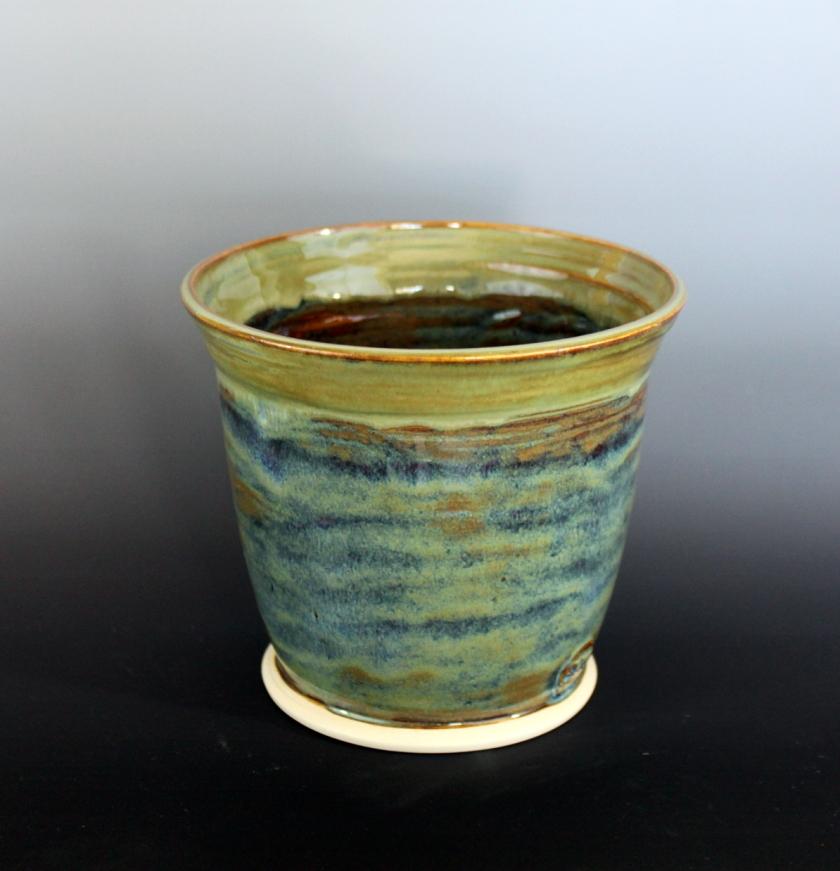 Sheryl Grassie, Utensil holder, 2013, mid-fire stoneware