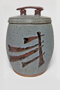 Julian Childs-Walker, 2013,  Stoneware covered jar