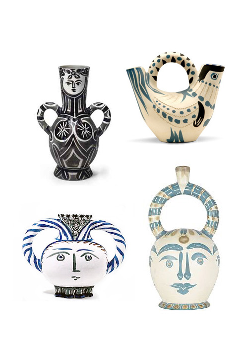 Selection of Picasso ceramics