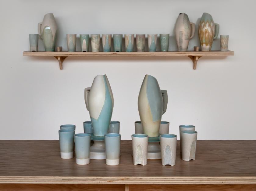 Slipcast, stoneware Margeaux Claude,