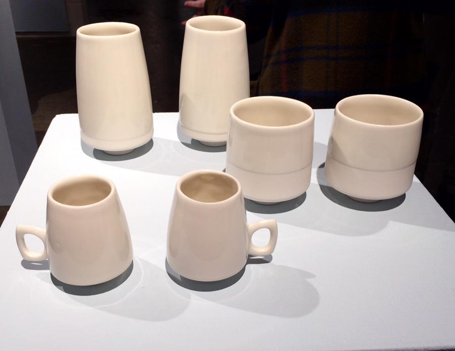 Margeaux Claude's simple but elegant slipcast designs | Uptown Clay