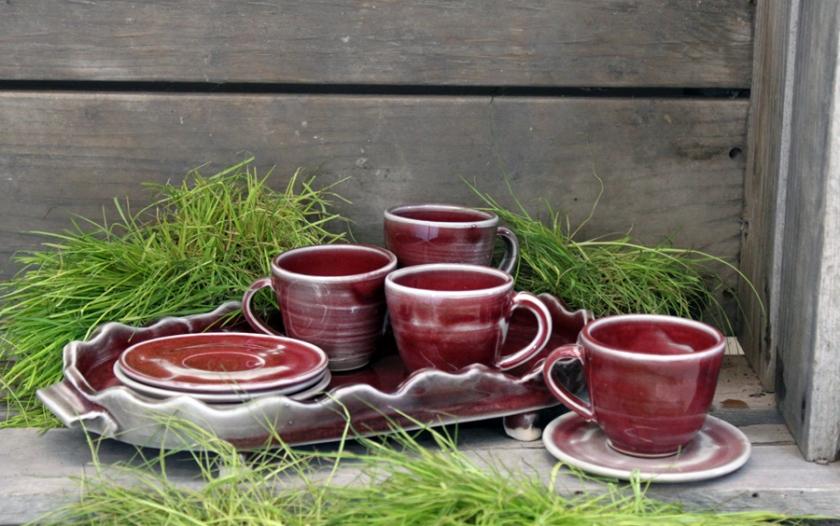 Pottery, stoneware, Benjamin Krikava, cups, shop local