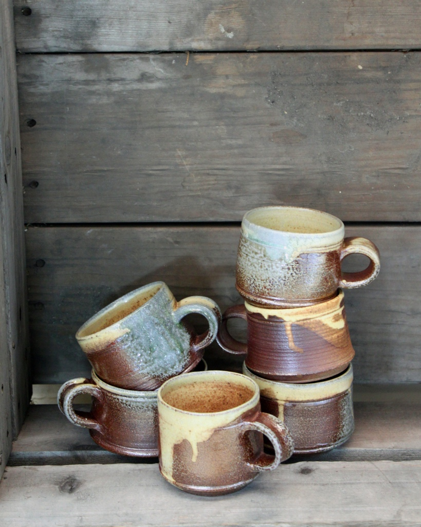 pottery, shop local, stoneware mugs, locally made, artisan crafted