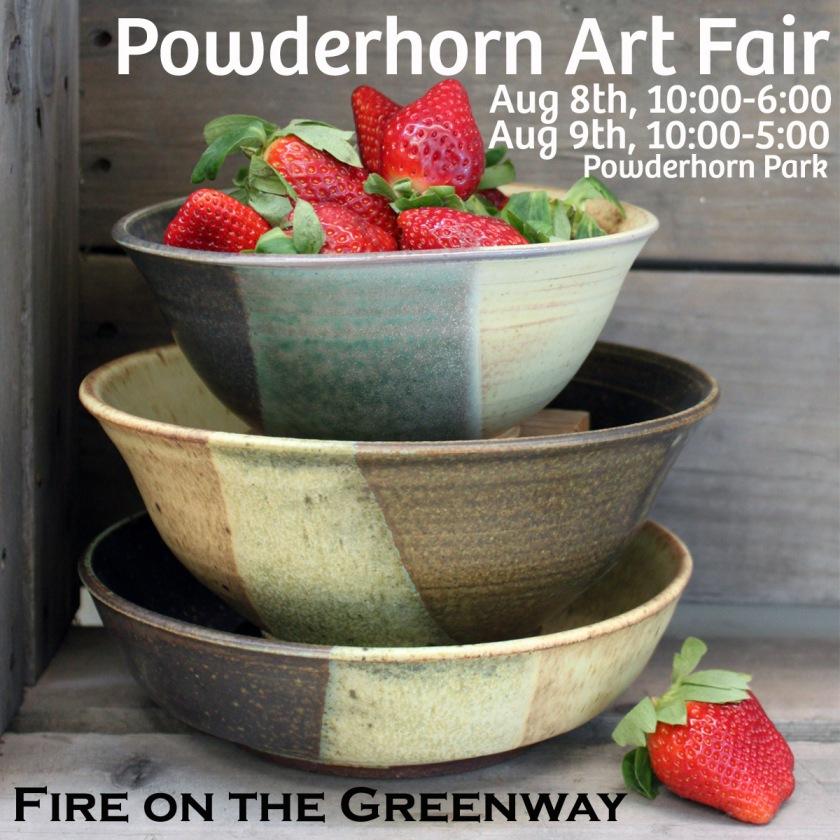 Powderhorn Art Fair, Pottery, Shop Local, Cermics, Fire on the Greenway,