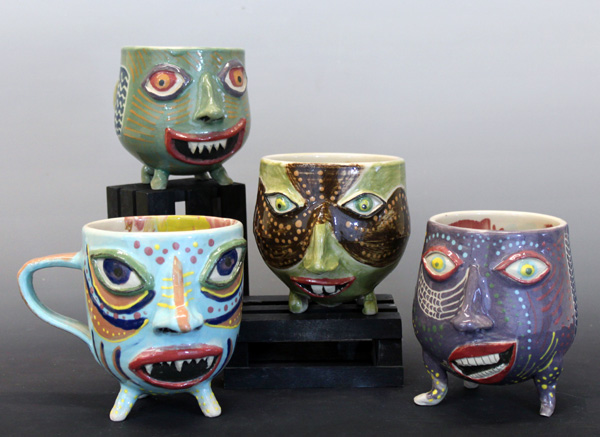 Rock Johnson, ceramics, pottery, Uptown Clay, shop local,